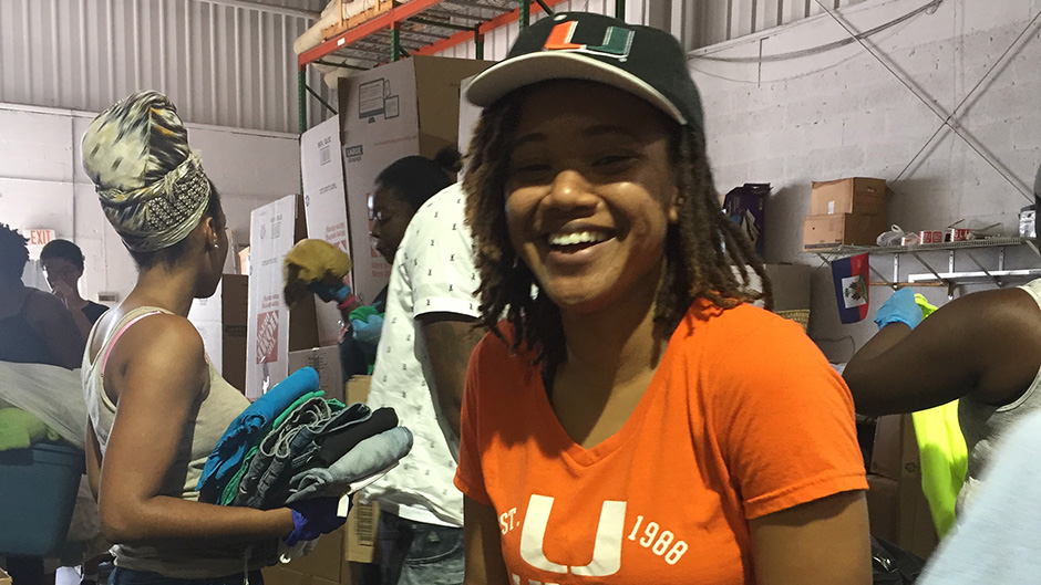 Asia Cadet, president of the University of Miami's Haitian student organization Planet Kreyol