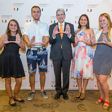 Stamp Scholars with President Julio Frenk