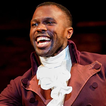 Joshua Henry performing in Hamilton